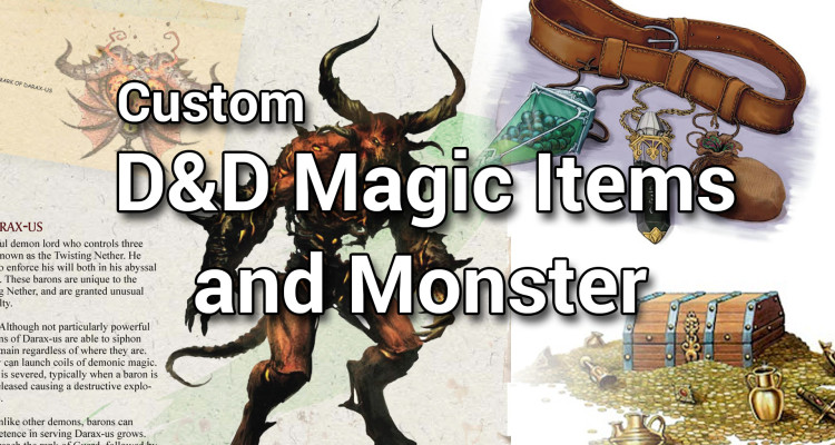 Demonic Encounters | Custom D&D 5e Magic Items and Monsters Cover