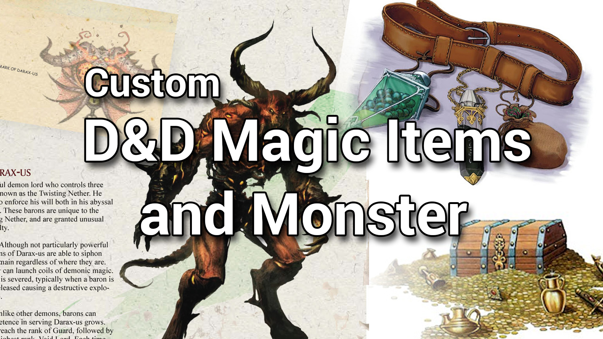 D&D 5e Homebrew Magic Items and Monster | Demonic Encounters