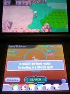 Catching Shiny Pokemon - Pokemon Not found in the DexNav